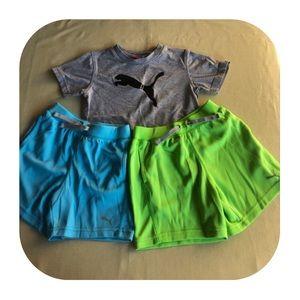 Puma T-shirt & 2 shorts boys 4T
